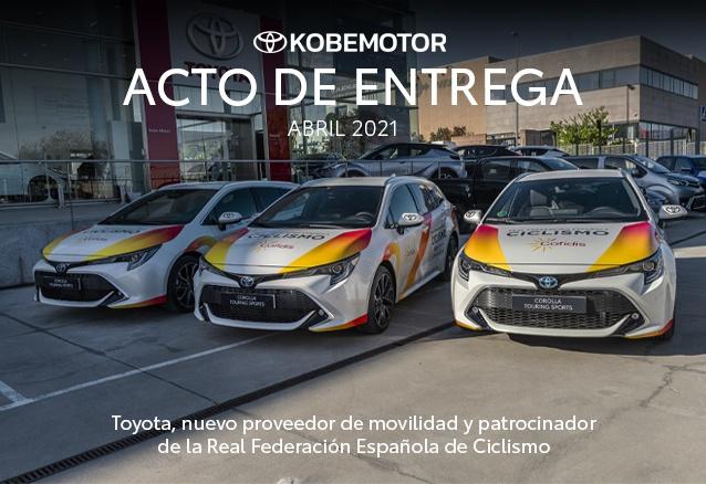 ACTO DE ENTREGA EN KOBE MOTOR A LA REAL FEDERACIÓN ESPAÑOLA DE CICLISMO